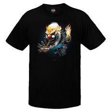R001980 H-D Angry Jack Black Short Sleeve T-Shirt