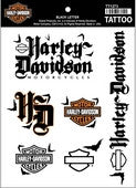 TT1273 Harley-Davidson® Temporary Tattoo Sheet Black Letter Collection
