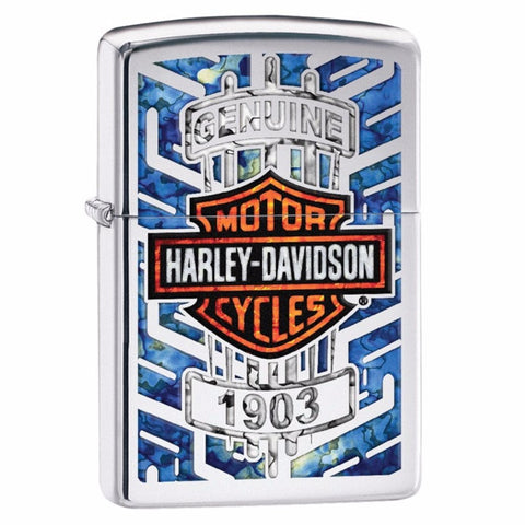 29159Z H-D Windproof Lighter High Polish Chrome - Zippo