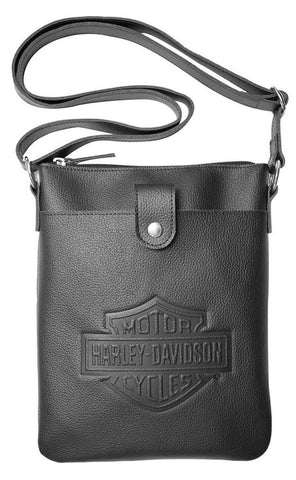 ZWL4703 H-D Women's B&S Embossed Vertical Crossbody Purse
