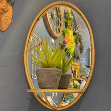 Load image into Gallery viewer, Golden Mirror with Shelf
