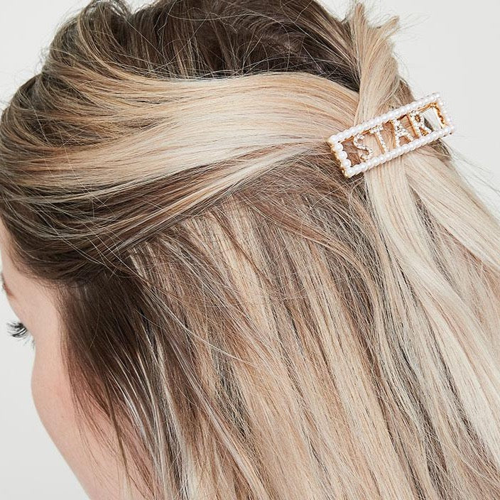 Beaded 'Star' Hair Clip
