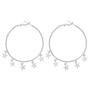 Starry Hoop Earrings OUT OF STOCK