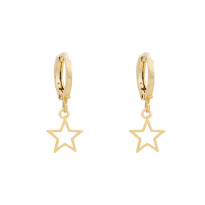 Gold Star Huggie Earrings