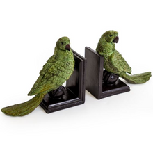 Load image into Gallery viewer, Green Parrot Bookends
