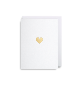 Mini Card Golden Heart