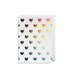 Mini Card Hearts White