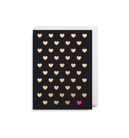 Mini Card Hearts Black