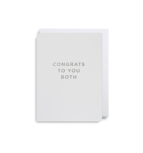 "Mini Card ""Congrats To You Both"""