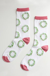 Ladies Bamboo Wreath Socks