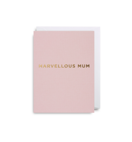 "Mini Card ""Marvellous Mum"""