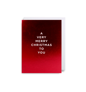 'Merry Christmas To You' Mini Card