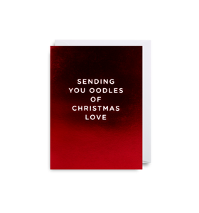 'Oodles of Christmas Love' Mini Card