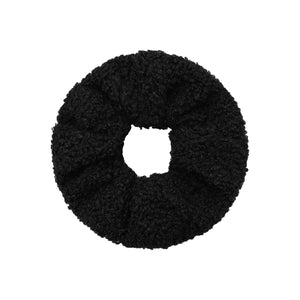 Soft Teddy Scrunchie in Black