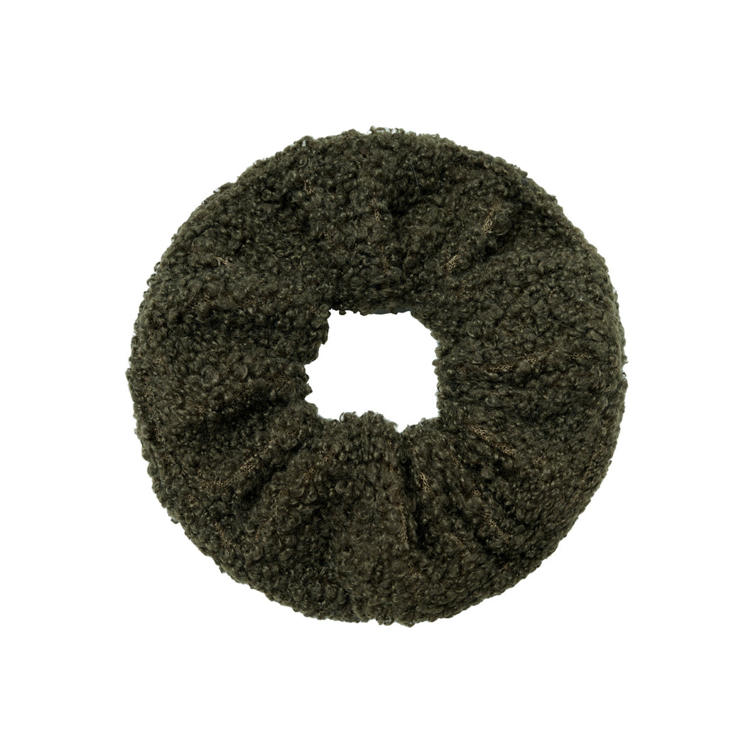 Soft Teddy Scrunchie in Green