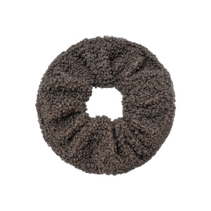 Soft Teddy Scrunchie in Brown