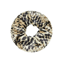Load image into Gallery viewer, Velvet Snake Scrunchie in Brown