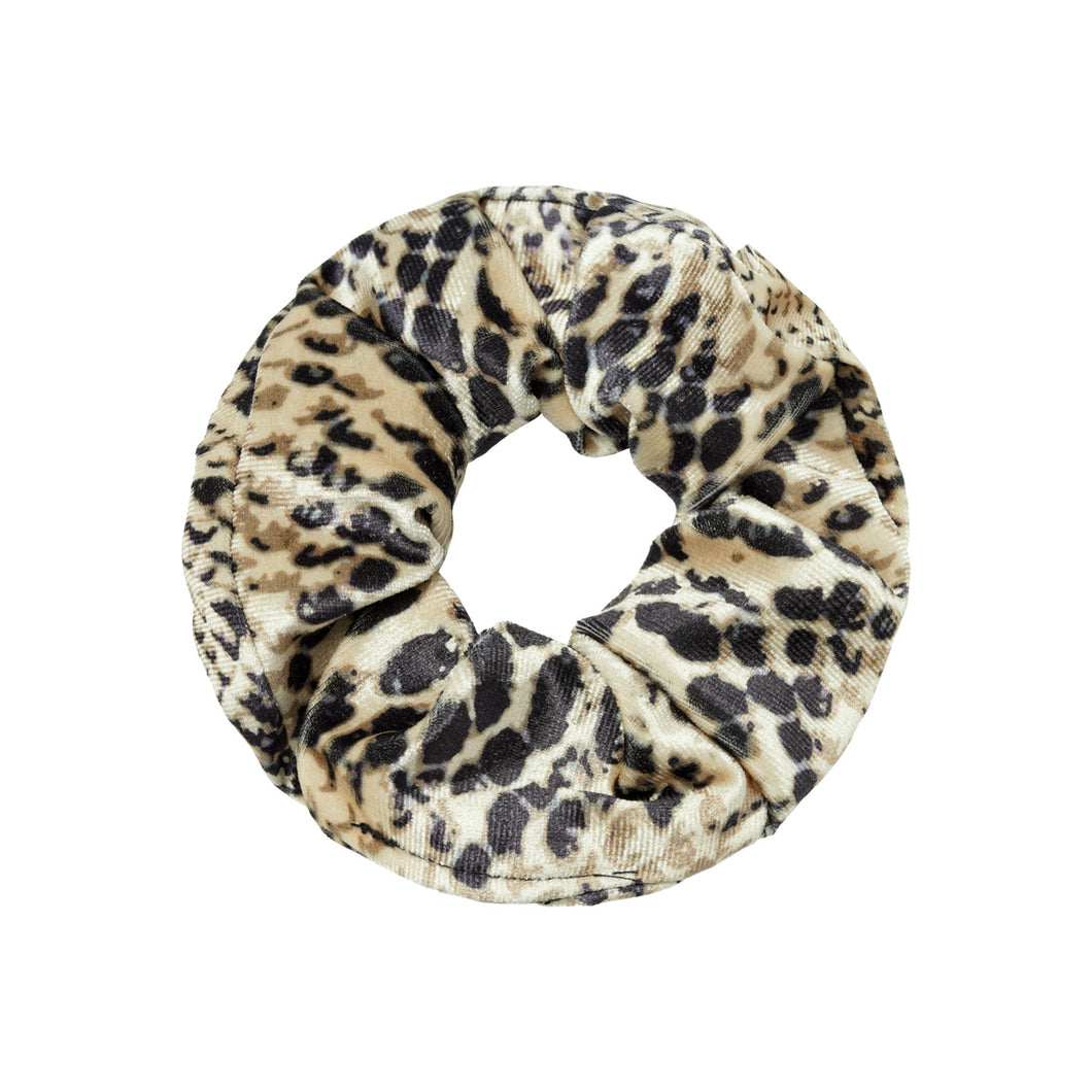 Velvet Snake Scrunchie in Brown