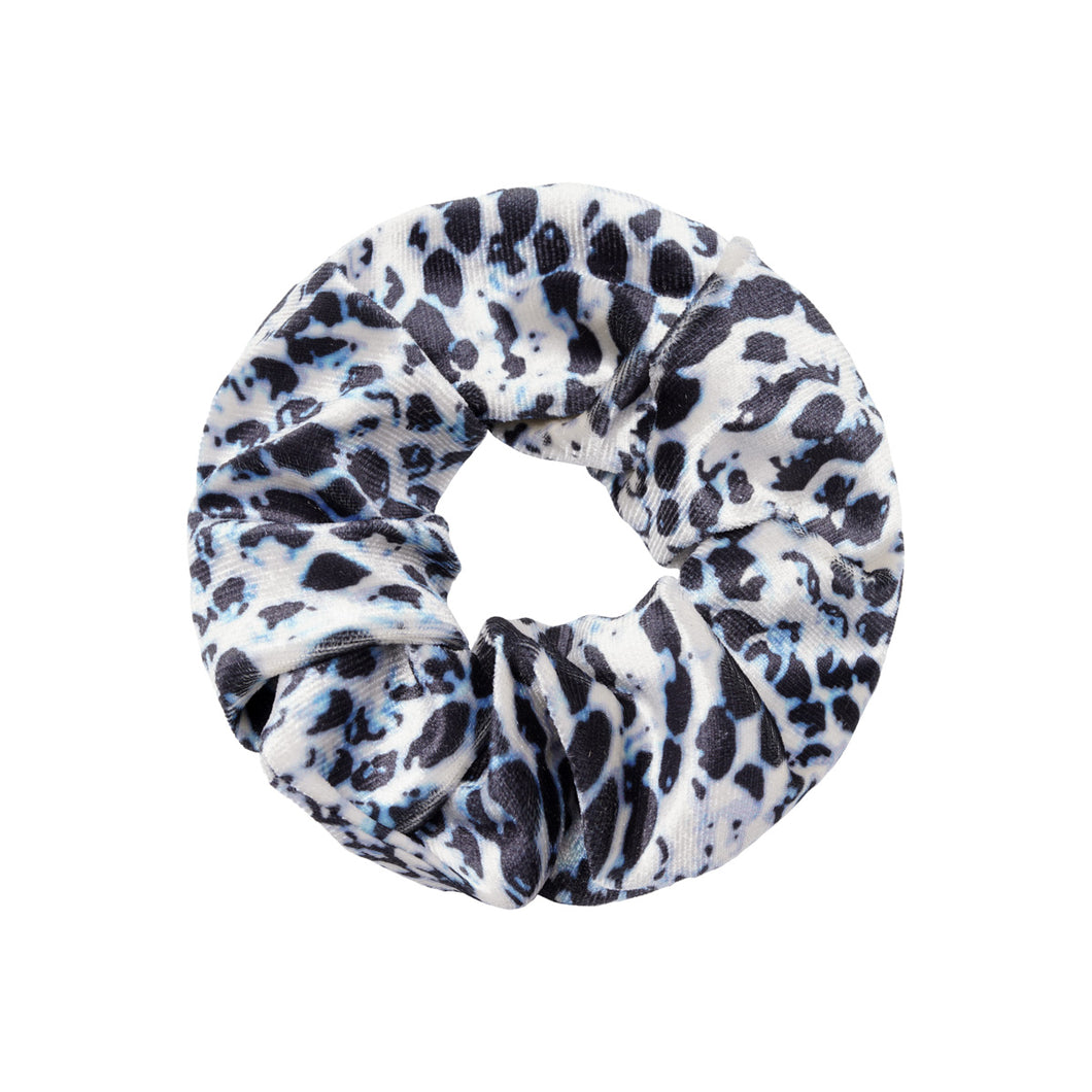 Velvet Snake Scrunchie in Grey