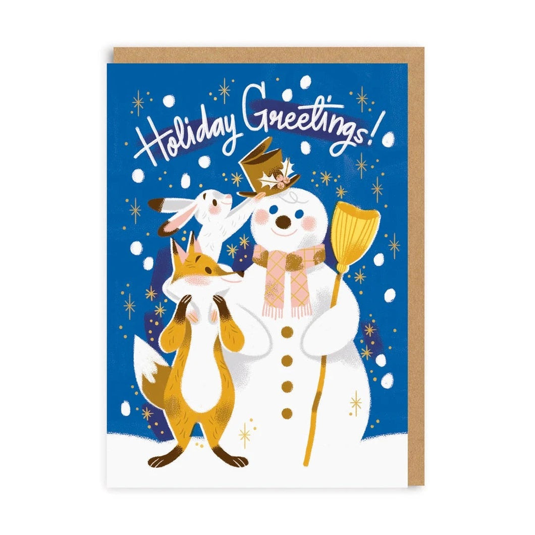 'Holiday Greetings' Christmas Card