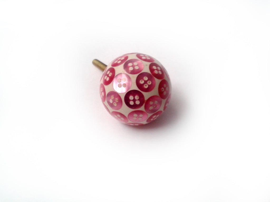 Buttons Drawer Knob Pink