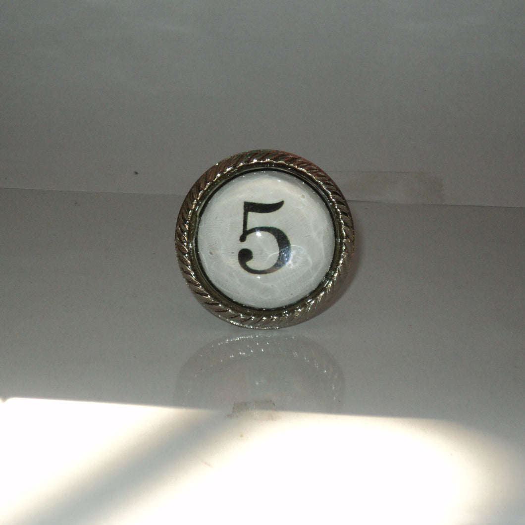 Number 5 Drawer Knob