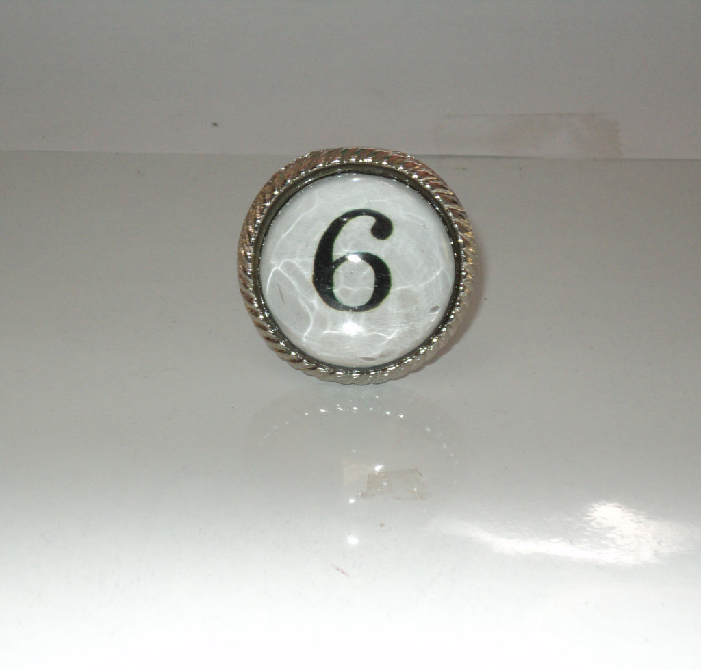 Number 6 Drawer Knob