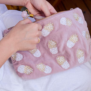 Pineapple Mauve Everyday Pouch