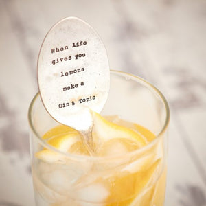 Drinks Stirrer – 'When Life Gives You Lemons Make A Gin & Tonic'