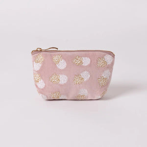 Pineapple Mauve Velvet Coin Purse