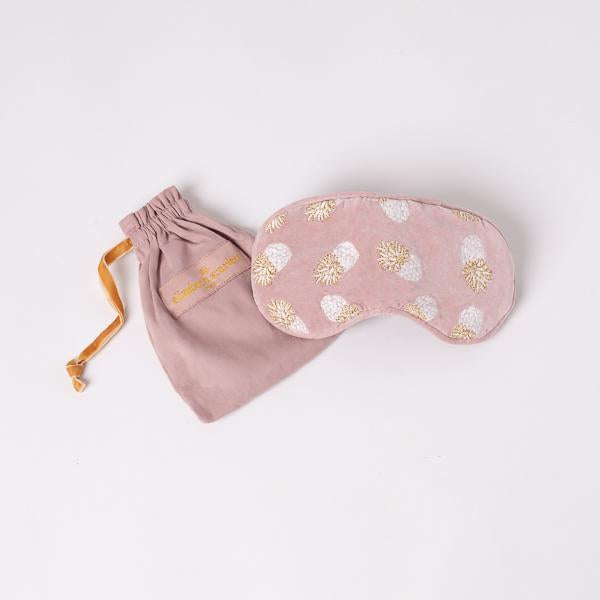 Pineapple Mauve Velvet Eye Mask