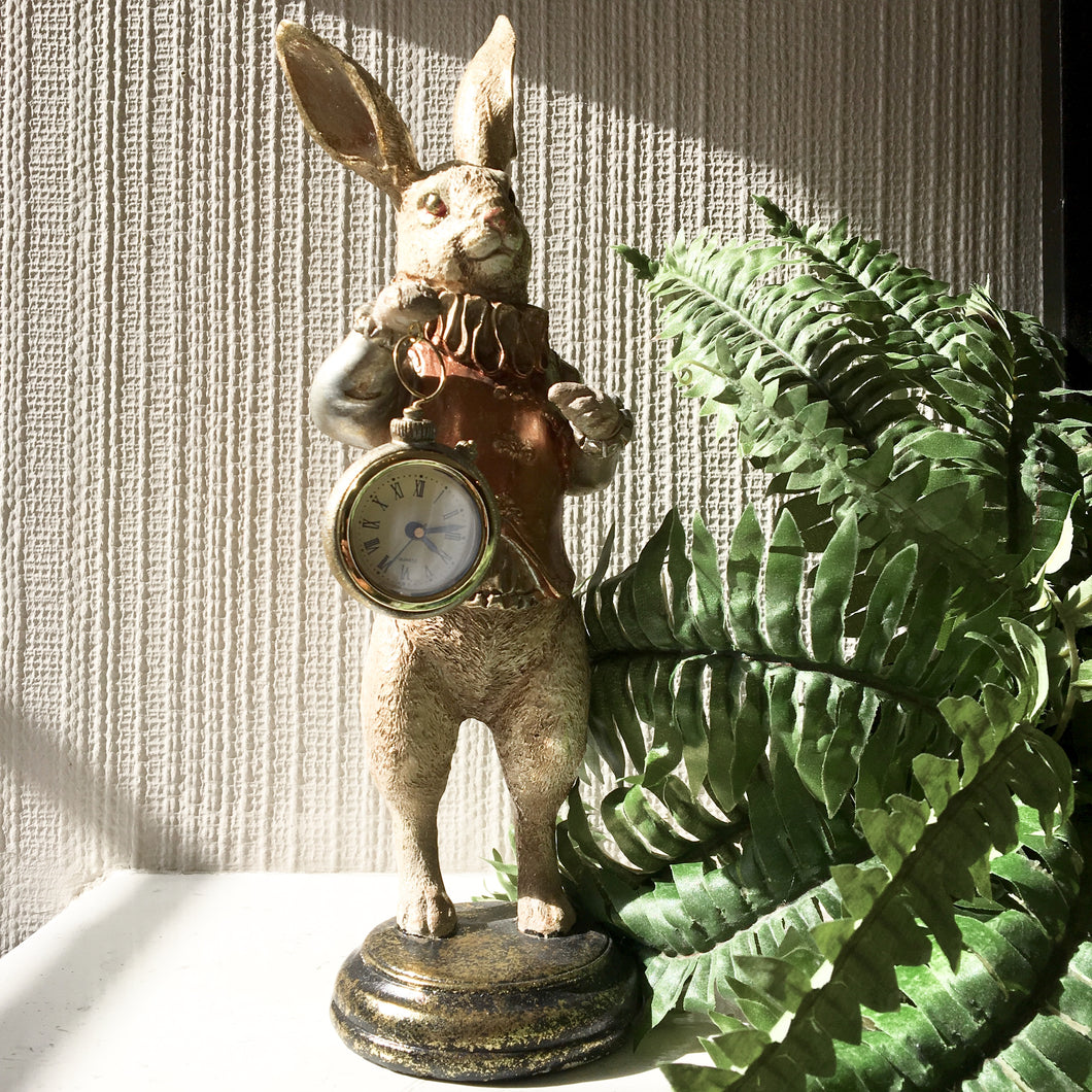 White Rabbit Clock Figure - Gold OUT OF STOCK