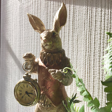 Load image into Gallery viewer, White Rabbit Clock Figure - Gold