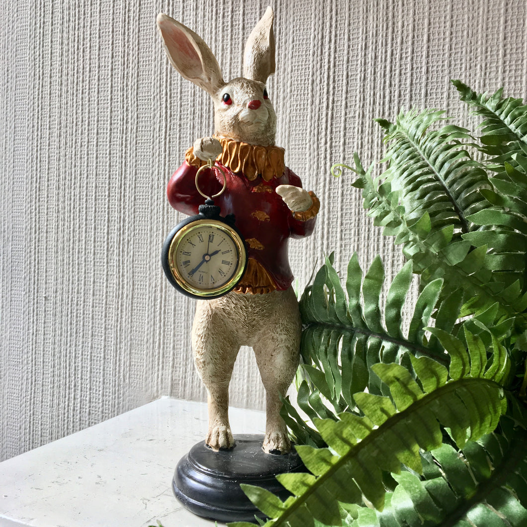 White Rabbit Clock Figure - Red