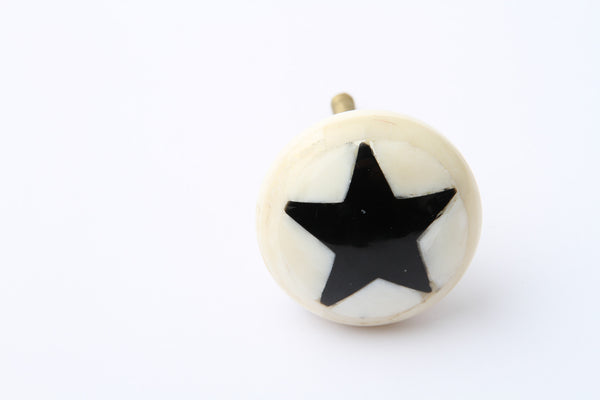 Star Drawer Knob Black