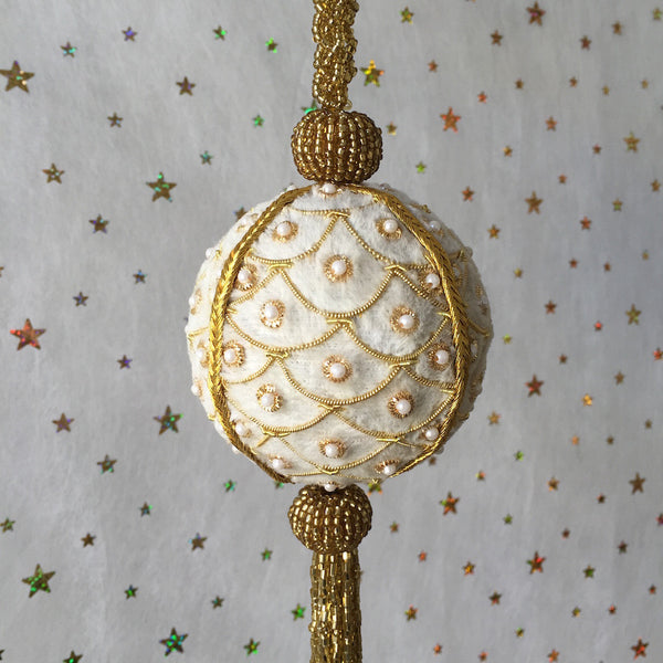 Luxurious Velvet Bauble with Tassel
