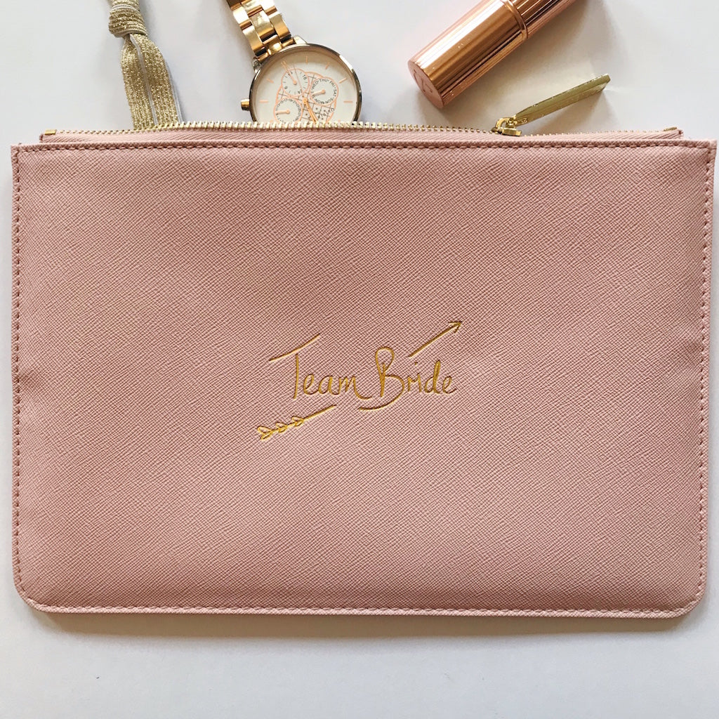 Team Bride Slogan Clutch Bag