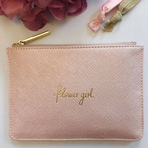 Flower Girl Mini Slogan Clutch Bag