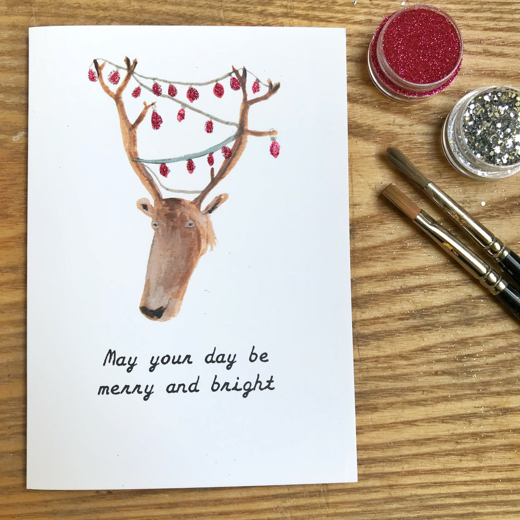 'May your day be merry and bright' Christmas Card