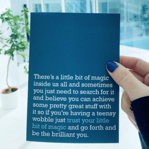 'Trust Your Little Bit Of Magic' Card