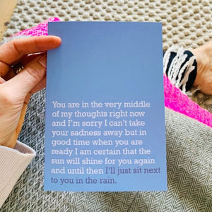 'Sit Next To You In The Rain' Card