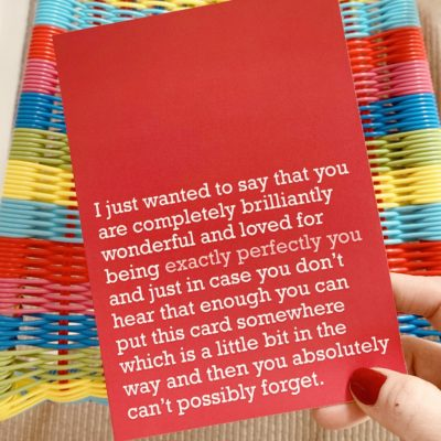 'Exactly Perfectly You' Card