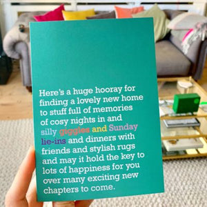 'Giggle and Sunday lie-ins' Card