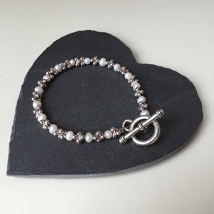 Pearl and Mini Jacks Bracelet