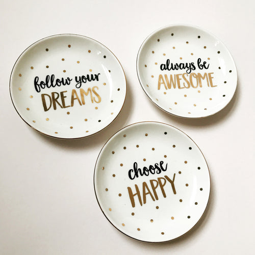 Positive Thoughts Trinket Dishes