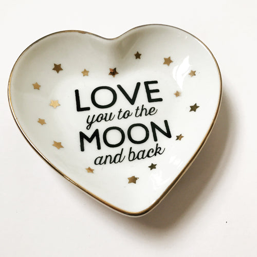 Love You to the Moon and Back Trinket Dish