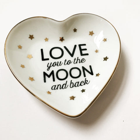 NEW Love You to the Moon and Back Trinket Dish