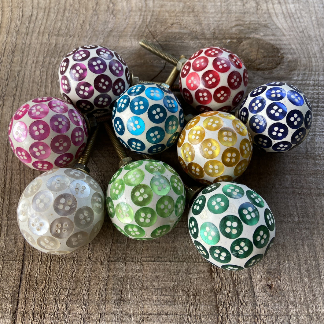 SALE  Set of 9 Assorted Button Drawer Knobs NOW ONLY £15.00 USUALLY £35.55