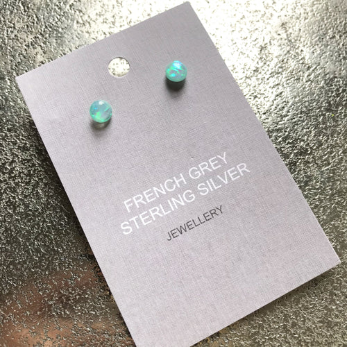 Iridescent Glass Stud Earrings