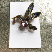 Load image into Gallery viewer, Purple Kingfisher Brooch